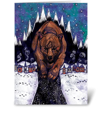 Mountain Town greeting card