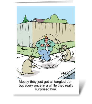 From Dogs Happy Father's Day greeting card