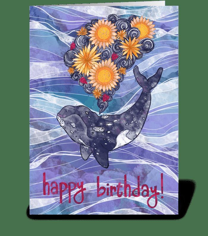 Deep Sea Bloom greeting card