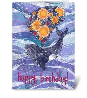 Deep Sea Bloom greeting card