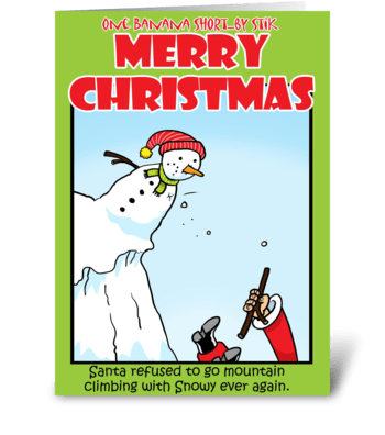 Snowy the Climber greeting card