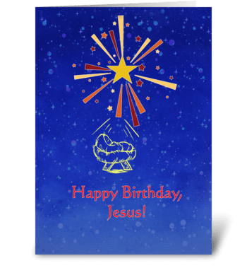 Happy Birthday, Jesus greeting card