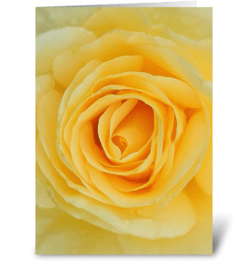 Floral_rose-yellow greeting card