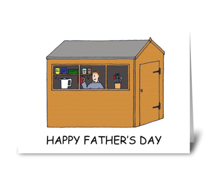 Happy Father's Day Dad's Shed greeting card