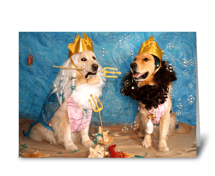 Poseidon and Triton Birthday greeting card