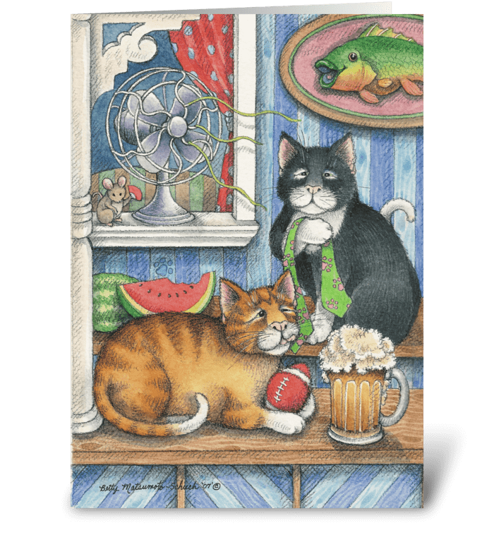 Father's Day Gifts Cats #18 greeting card