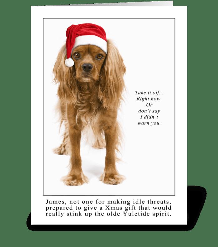 Yuletide Spirit greeting card