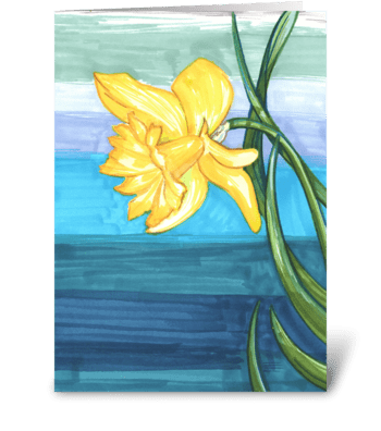 A Daffodil For You greeting card