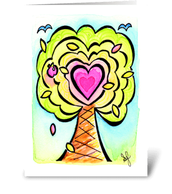 Birthday Heart Treat  greeting card