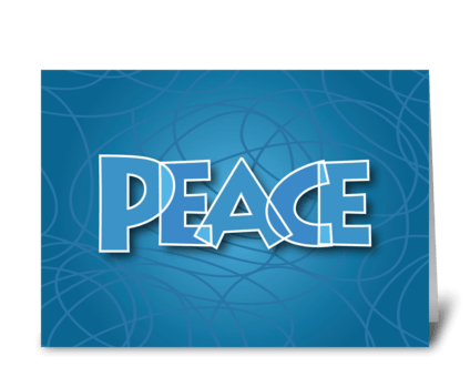 Peace Letters greeting card