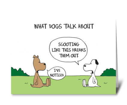 What Dogs Talk About greeting card