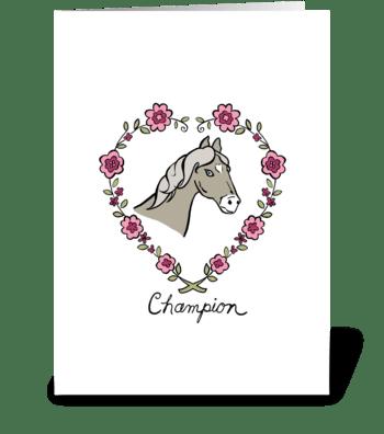 Champion greeting card