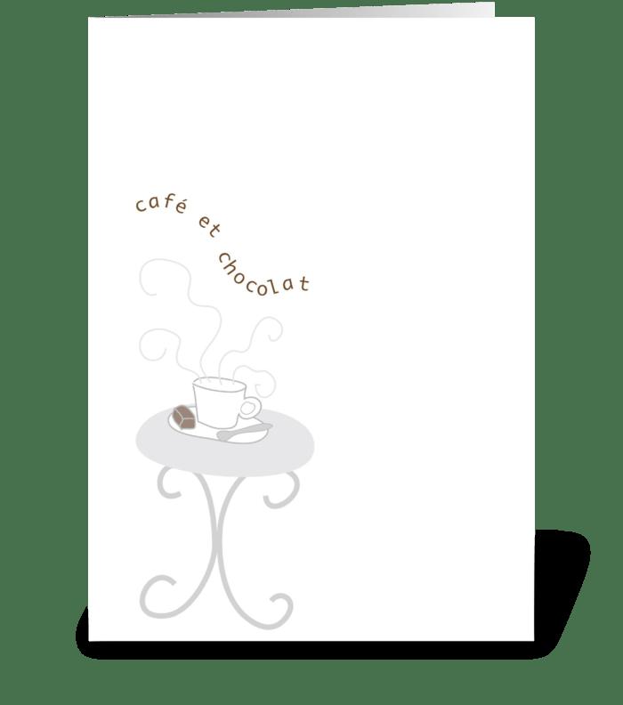 Oo-La-La - Café et Chocolat greeting card