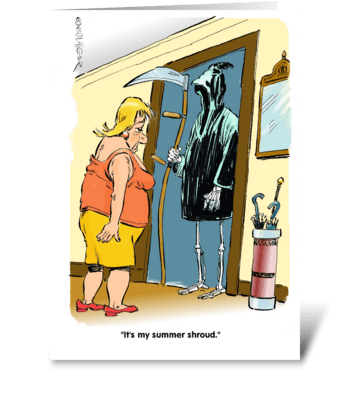 New duds! greeting card