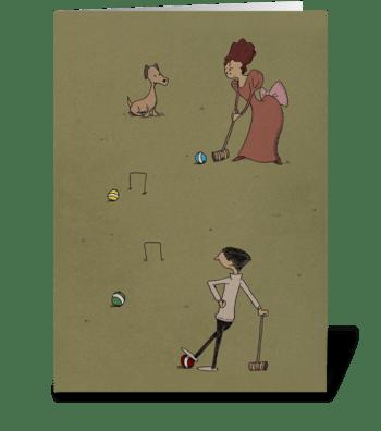 Croquet greeting card