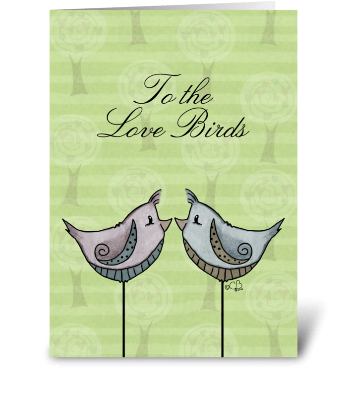 Love Birds Happy Anniversary greeting card