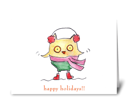 Owl Christmas greeting card
