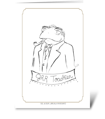 The Author Animalia Collection: Toadkien greeting card