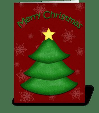 Christmas Tree Greeting greeting card