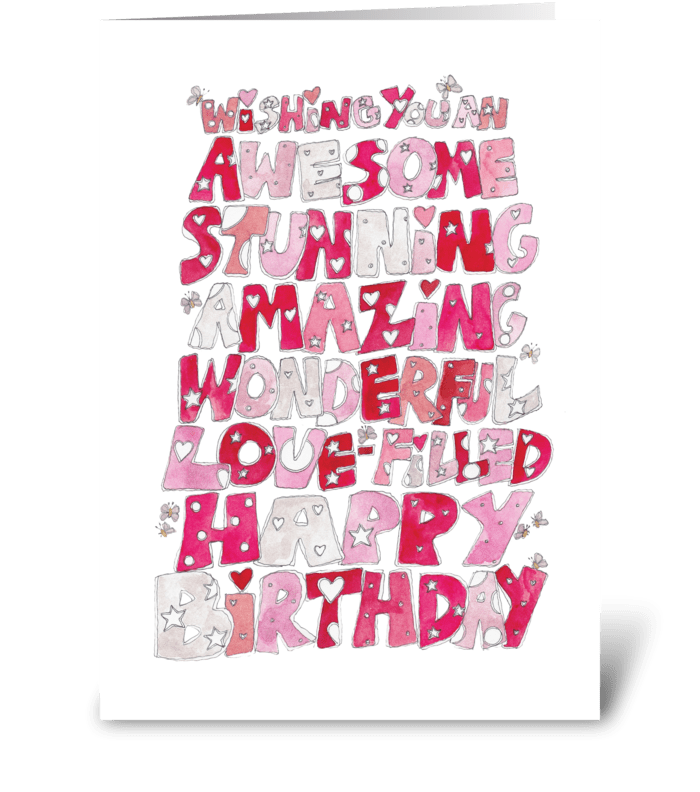 Wishing You An Awesome Happy Birthday greeting card