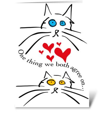 Mother's Day From Cats One Thing We Both greeting card