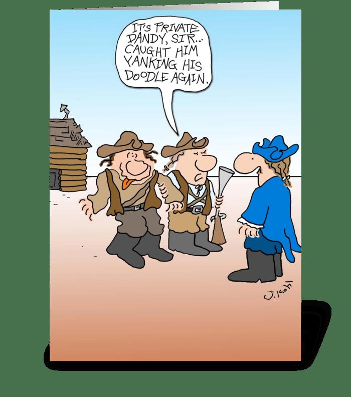 Yankee Doodle greeting card