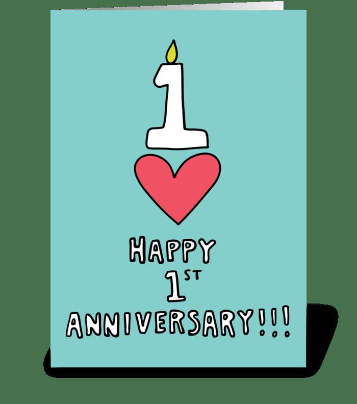Happy 1st Anniversary greeting card