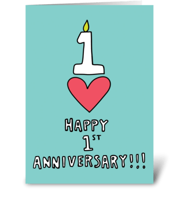 Happy 1st Anniversary greeting card