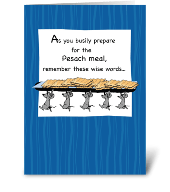 Passover Matzoh Mice Humor greeting card