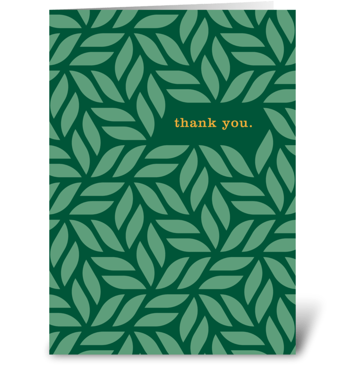Thank You Hedge greeting card