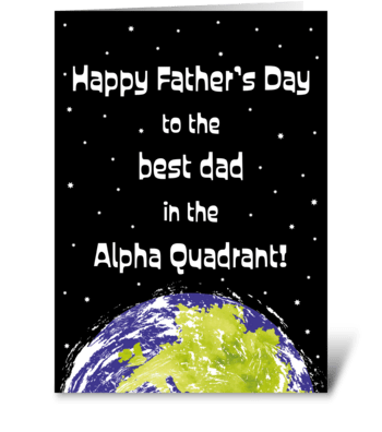 121 Star Trek Themed Father's Day Card greeting card
