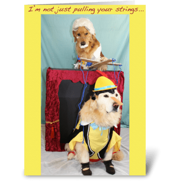 Marionette Puppet Show Birthday greeting card