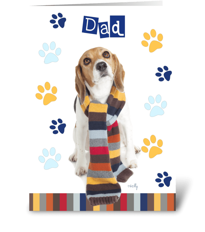 Father's Day Beagle greeting card