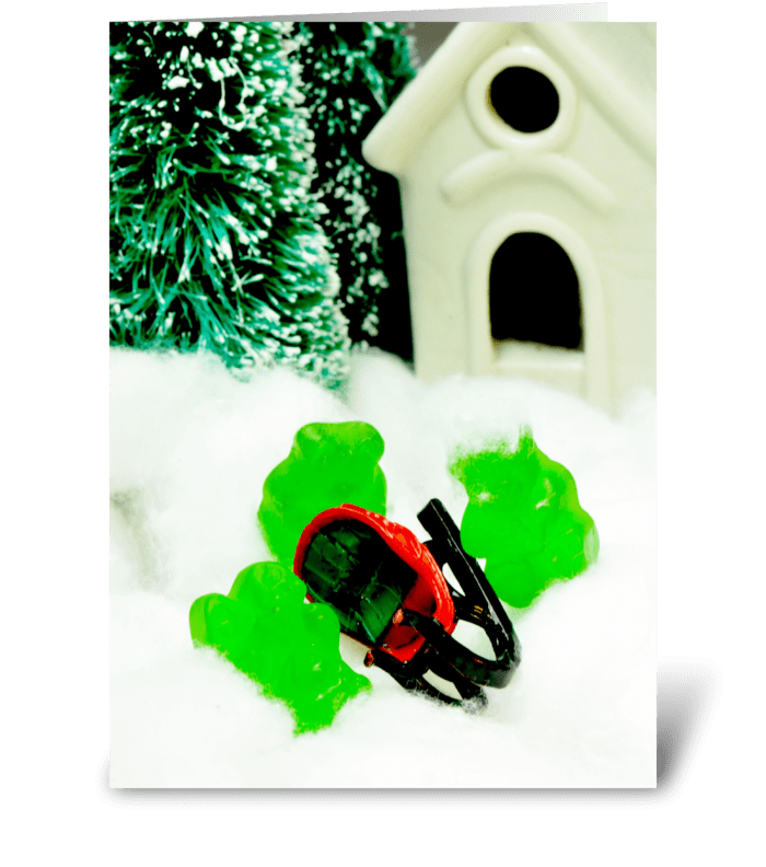 Gummy Sleigh Ride greeting card