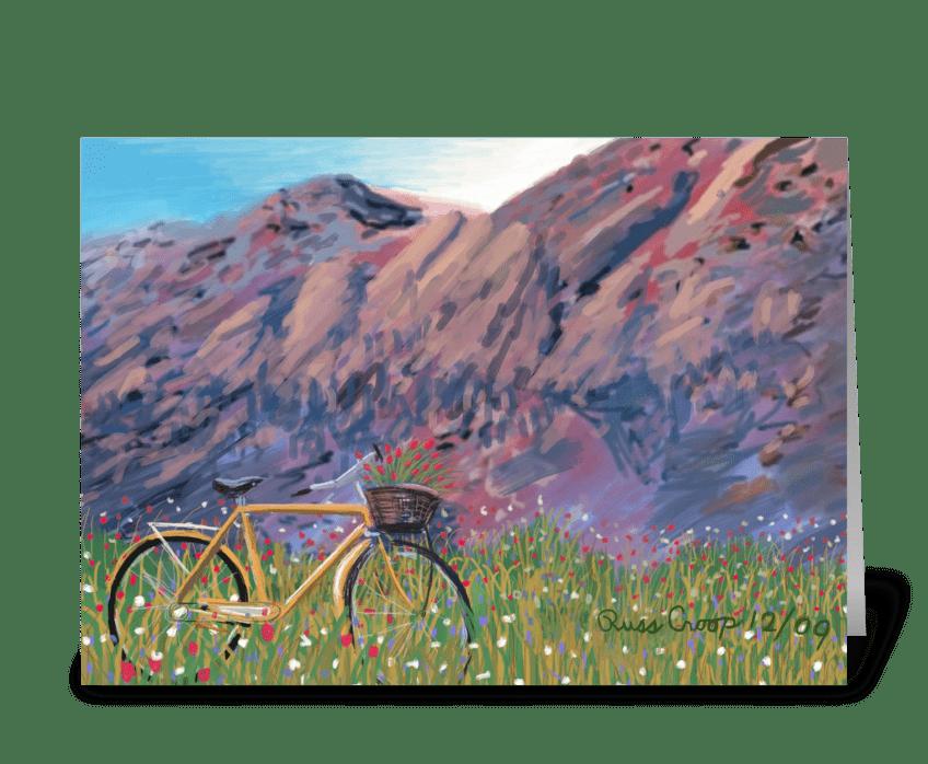 Flatirons Bike greeting card