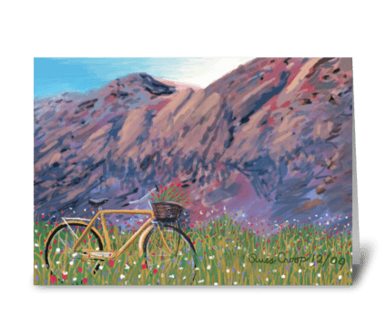 Flatirons Bike greeting card