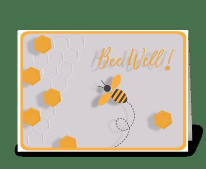 Bee Well greeting card