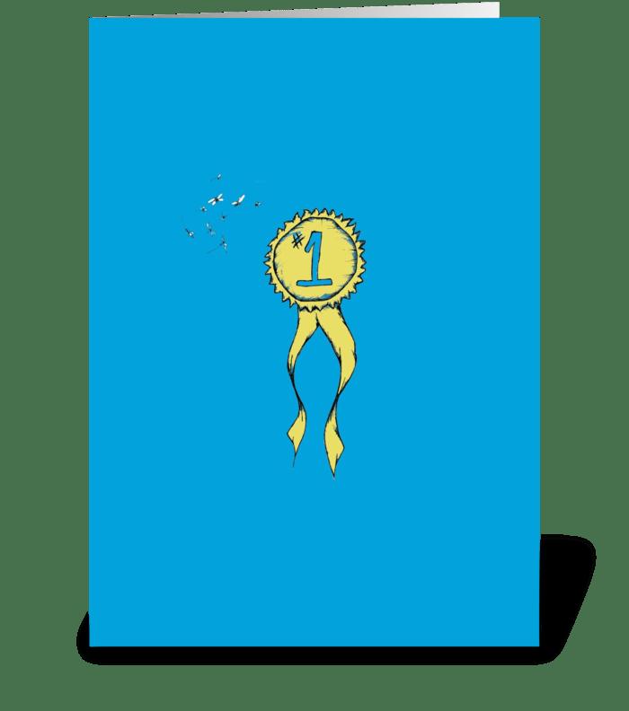 #1 Ribbon greeting card