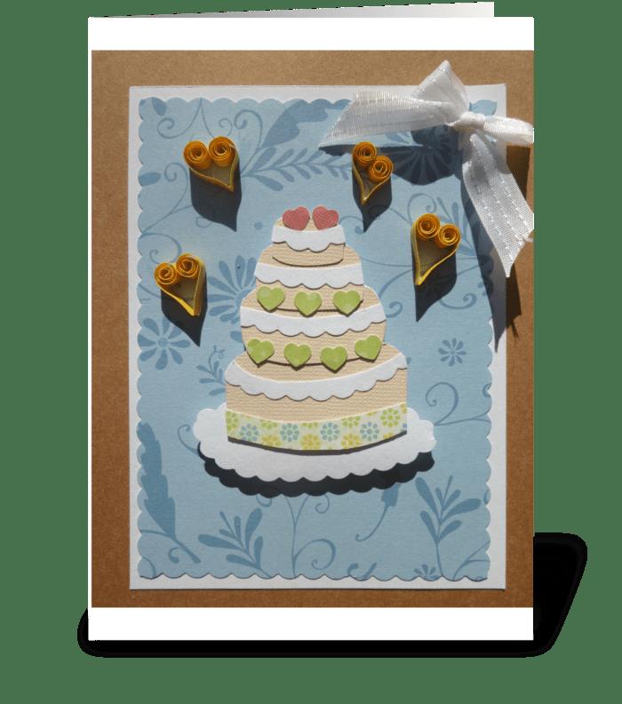 Wedding occasion greeting card