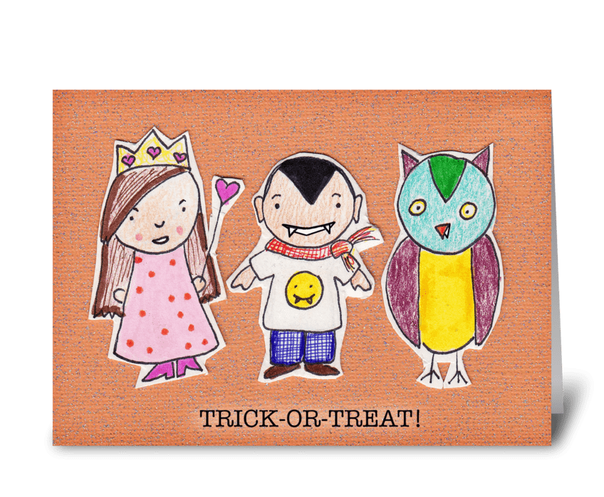 Trick-or-Treat!! greeting card
