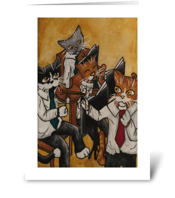 Christmas Orchestral Cats greeting card