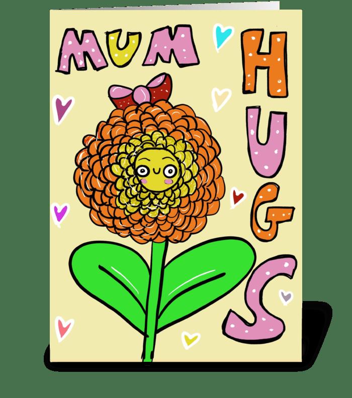 Mum Hugs greeting card