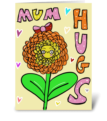 Mum Hugs greeting card