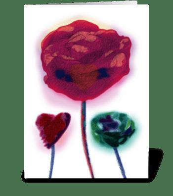 Three Loves greeting card