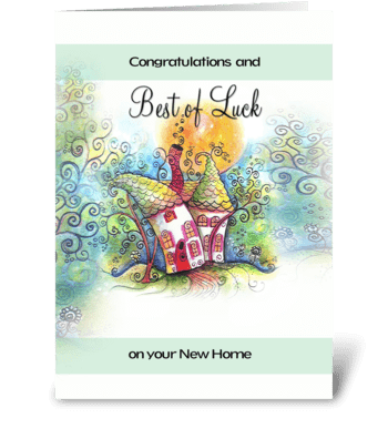 best of luck, NEW HOME greeting card