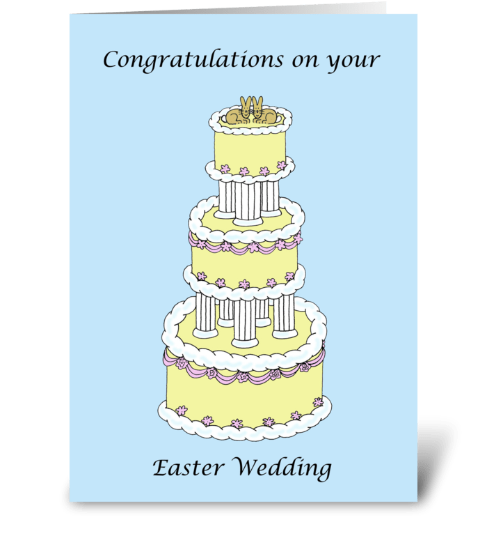Easter Wedding Congratulations. greeting card