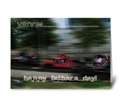 Vroom greeting card