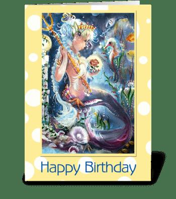 Little Mis Neptune, Birthday greeting card