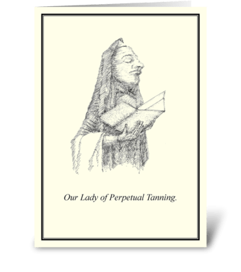 Perpetual Tanning greeting card