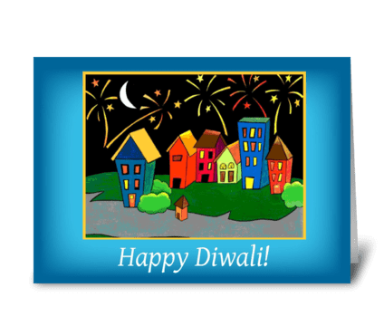 Diwali Neighborhood, Celebration greeting card